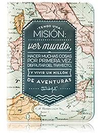 Mr.Wonderful WOA02946 Funda para Pasaporte Tengo Una Misión, Multicolor