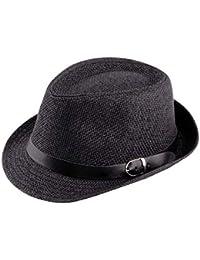 Yogatada Cappello di Paglia Cappello alla Moda Estate cap Topee Fedora  Trilby Cappello Panama Protezione di 9051c567a099