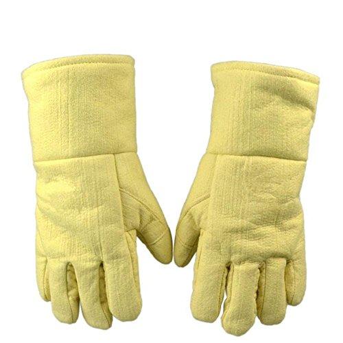 HomJo Oven Gloves Extreme Hitzebeständige 932 ° F Barbecue Handschuhe Isoliert von Aramid mit interner Baumwolle Brandschutz Kochen Handschuhe Komfort Flexible Fünf Finger Handschuhe Outdoor Küche