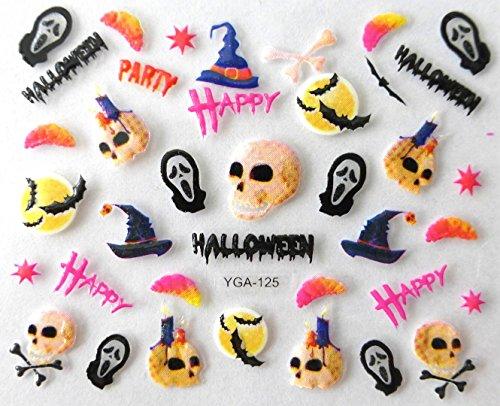 nail art , scrapbooking - Stickers autocollants Halloween (125)