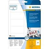 Herma 10010 Universal-Etiketten ablösbar (88,9 x 46,6 mm auf DIN A4 Papier matt) 300 Stück auf 25 Blatt, weiß, bedruckbar, selbstklebend, Movables