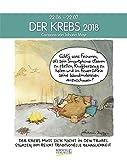 Krebs 2018: Sternzeichenkalender-Cartoonkalender als Wandkalender im Format 19 x 24 cm.