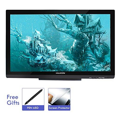 HUION KAMVAS GT-220 V2 21,5 Zoll Voll-HD IPS Stift Grafiktablett-Display mit 8192 Stufen Stiftdruck, Schwarz