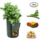 XYZS Bolsa de cultivo para patatas, 2 paquetes de recipientes para plantar jardines para tomatos patatas verduras