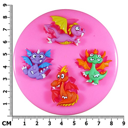 little-magic-dragon-silicone-mould-mold-for-cake-decorating-cake-cupcake-toppers-icing-sugarcraft-to