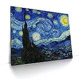CanvasArts Sternennacht - Vincent Van Gogh - Leinwand Bild auf Keilrahmen (60x50 cm, einteilig)