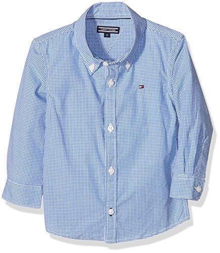 Tommy Hilfiger Mini Gingham S, Camicia Bambini e Ragazzi, Blu (Shirt Blue 474), 158 (Taglia Produttore:14)