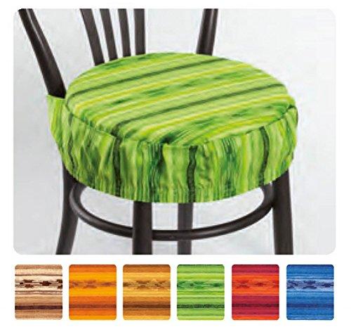 Casa tessile ikarus cuscino copri sedia rotondo con fascia elastica - arancio