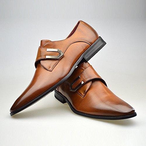 chaussures boucle pour homme en cuir noir taille fr 3946. Black Bedroom Furniture Sets. Home Design Ideas