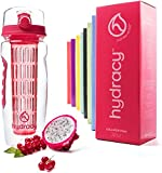 Infuser Water Bottle with No Sweat Cooler Bag,Large 32oz,Bubblegum Pink