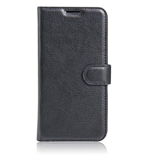 Alcatel Pop 4 plus Hülle Case,Gift_Source [Slim Fit] [Stand Feature] Magnetic Snap Hülle Case Premium PU Leder Brieftasche Mit Built-in Card Slots Flip Hülle Case Cover für Alcatel One Touch Pop 4 plus 5.5 inch [schwarz]