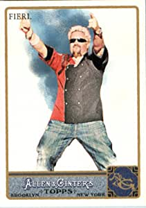 2011 Topps Allen & Ginter GLOSSY Edition Baseball Card (#'d out of 999) #209 Guy Fieri Food Network - Minute to Win it Host -In a