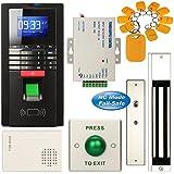 Soter® de sécurité d'empreintes digitales d'entrée Système de contrôle d'accès RFID Carte Home Office Kit + 600lbs 280kg électrique Verrou de porte magnétique