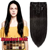 Clip in Hair Extension Human Hair Full Heal Real Remy Hair Extensions Standard