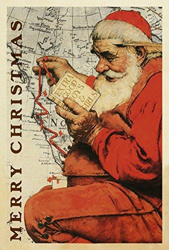 PEP Home 1010099 Weihnachtsmann auf der Karte, 71,1 x 101,6 cm, dekorative Weihnachtsfeier, für Jungen und Mädchen