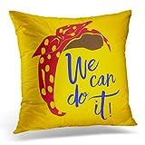 DeeCom Throw Pillow Cover Headband Rosie the Riveter Feminist Nasty Brand Female Feminism Girl Decorative Cushion Pillow Case Home Decor Square 16x16 Inches Pillowcase