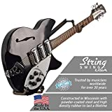 String Swing cc151-lpn-fw orizzontale a basso profilo narrow-body Guitar Holder for Flat Wall Mount–Set di 1unità