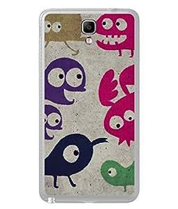 PrintVisa Designer Back Case Cover for Samsung Galaxy Note 3 Neo :: Samsung Galaxy Note 3 Neo Duos :: Samsung Galaxy Note 3 Neo 3G N750 :: Samsung Galaxy Note 3 Neo Lte+ N7505 :: Samsung Galaxy Note 3 Neo Dual Sim N7502 (Colourful Traditional Image Of Cartoons Drawn)
