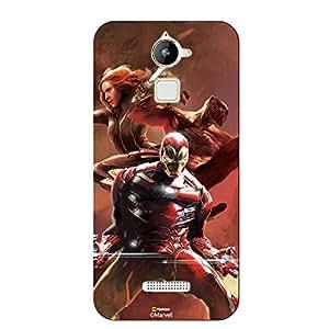 Hamee Marvel Civil War Captain America Iron Man Licensed Hard Back Case Cover For Coolpad Note 3 / Cool Pad Note Three Cover ( Iron Man Team )