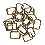 #7: MagiDeal 20 Pieces Metal Square Buckles Bag Strap Connectors Webbing Rings for DIY Bag Purse Making - bronze, 20x12x2.8mm