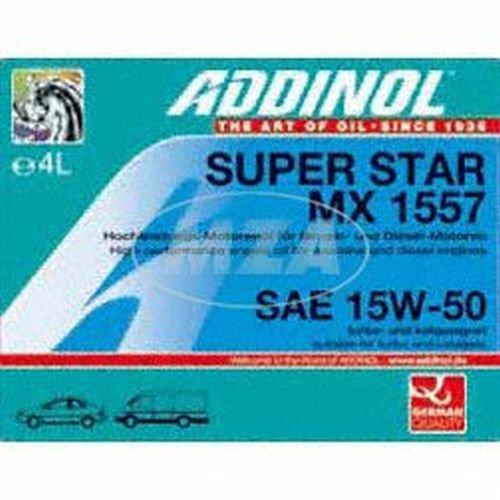ADDINOL SUPER STAR MX 1557 15W-50 A3/B3/E2 Motorenöl, 4 Liter