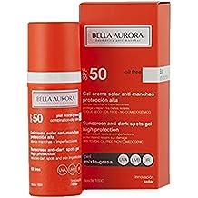 Bella Aurora, Gel Solar anti-manchas piel mixta-grasa. SPF50+ -50ml