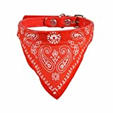 RenZhenDian Adjustable Cool Scarf Bandana Collar for Pet Dog Cat Puppy (Red)