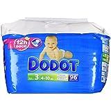 Dodot–Pack Couches Bébés–Taille 3, 4–10kg–Lot de 96