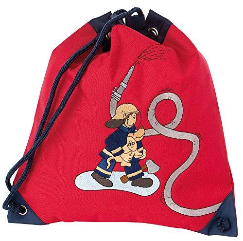 Imagen principal de Sigikid 23330 - Mochila saco para deporte con diseño de bombero, color rojo y negro