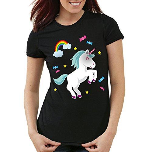 style3 Unicorn Candy Einhorn Damen T-Shirt Regenbogen Süßwaren, (Einhorn Kostüm Schwulen)