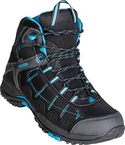 Dachstein Trekkingschuhe hoch in Schwarz mit blauen Details, Bequeme Wanderstiefel für Damen & Herren, Wasserabweisende Boots, Hightech-Wanderschuhe, gelenkschonend, Gr. 37-46