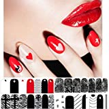 Nail Art Stickers!Elevin(TM) The New Fashion Beautiful Nail Tips Decorations Hot stamping 3D Nail Art Stickers Decals (B)