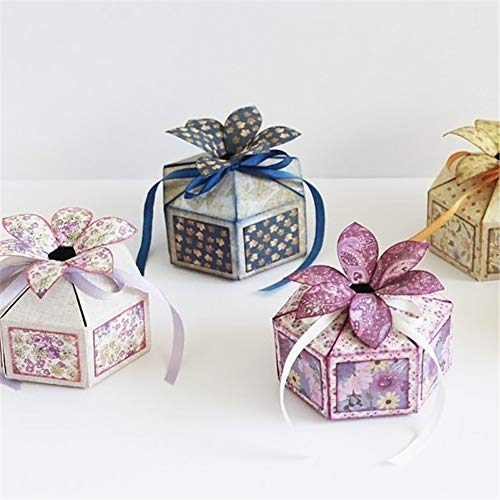 Weihnachtsgeschenk-Box Stanzschablonen Kohlenstoffstahl Schneiden Schablonen DIY Sammelalbum Set Scrapbooking Papier Karten