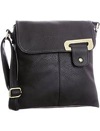 Big Handbag Shop - Bolso bandolera para mujer, tipo messenger, cruzado, tamaño mediano