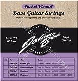 Juego de 4 JOHNNY BROOK Nickel Wound de alta calidad de cuerdas para bajo eléctrico (extra ligera para de gran calibre)