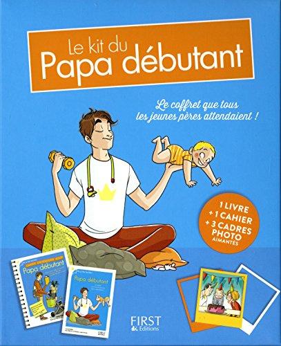 Le kit du papa débutant : Coffret livre + cahier + 3 cadres photos aimantés