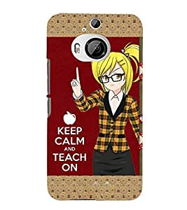 Takkloo keep calm and touch on keep calm, cute girlanimated girlcute teacherkeep calm ) Printed Designer Back Case Cover for HTC One M9 Plus :: HTC One M9+ :: HTC One M9+ Supreme Camera