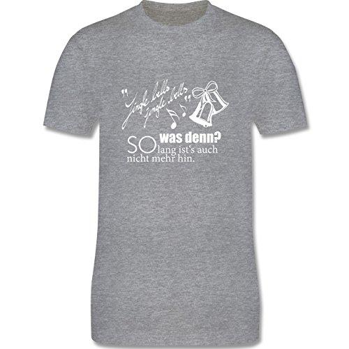 Weihnachten & Silvester - Jingle bells - so lang ist's auch nicht mehr hin - Herren Premium T-Shirt Grau Meliert
