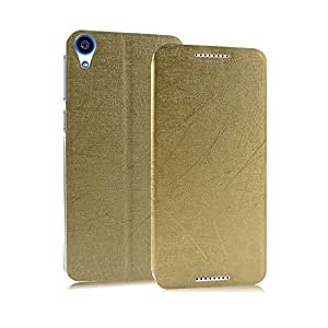 Heartly Premium PU Leather Flip Stand Case For HTC Desire 820 (Gold)