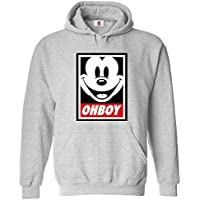 Graphic Impact Inspired Oh Boy Mickey Funny Mouse Cartoon Lovers Oh Boy Hoodie
