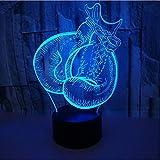 Boxhandschuh Modell Led 3D Nachtlicht 7 Farbe Blinkende Touch Sensor Usb Illusion Lampe Für Schlafzimmer Dekoration Schreibtischlampe