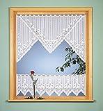 Scheibengardinen-Set, 2-teilig, halbtransparent, Farbe weiß