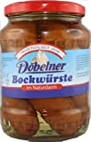 Döbelner Bockwürste im Naturdarm, glutenfrei, 2 Gläser je 5x80g