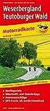 Weserbergland - Teutoburger Wald: Motorradkarte mit Ausflugszielen, Einkehr- & Freizeittipps und...