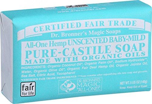 Baby Mild Bar Soap (Dr Bronners Magic Soap 5 Ounces Baby Mild Bar Soap by Dr. Bronner's)
