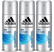 Adidas Climacool Deodorant Body Spray for Men, 3 x 150 ml