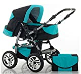 14 teiliges Qualitäts-Kinderwagenset 2 in 1...
