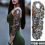 Tatuaggio impermeabile con ali d'angelo e maniche a braccio grande