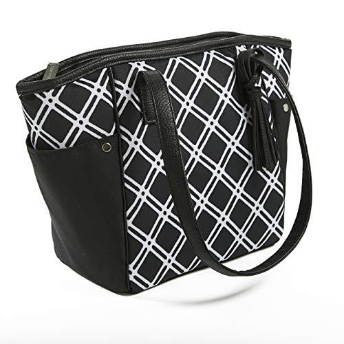 Rachael Ray Monroe Lunch-Tasche, stylische isolierte Tasche und Speisetasche, Schwarz kariert (Rachael Ray Schwarz)