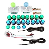 Bottoni luminoso di arcade 20pcs joysticks di arcade 2pcs Encoder USB 2pcs Pezzi per arcede Game Machine DIY gioco di PC